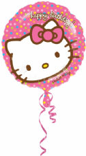 Hello Kitty Happy Birthday Rainbow Dots Foil Helium Balloon